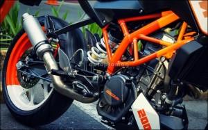 Modified duke 200 exhausts