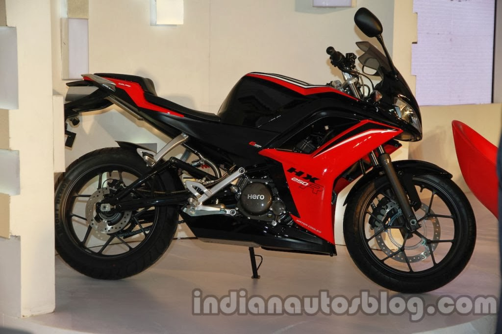 Hx 350r side india hero