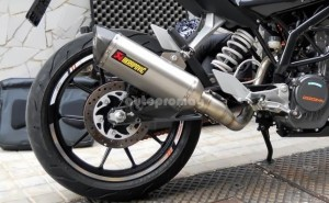 Akrapovic exhaust for Duke 200 and 390