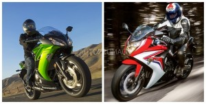The 2014 Kawasaki Ninja 650r vs 2014The Honda CBR 650 F