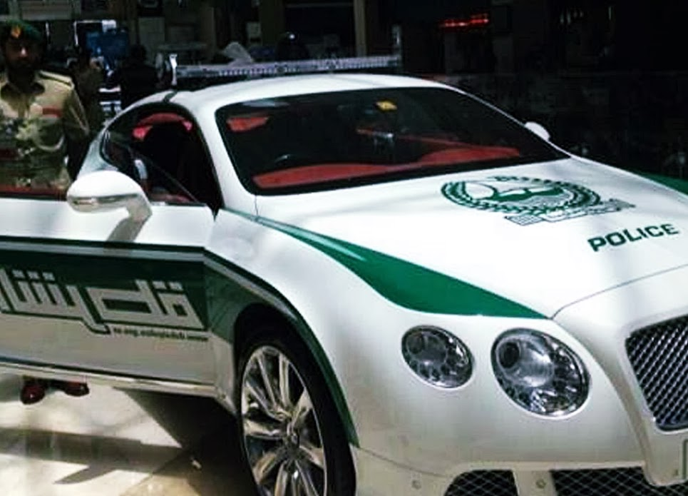 A Line Up Of All The Supercars In Dubai Police Force