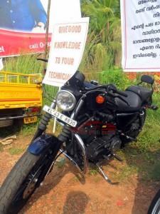 Protest infront of Harley Davidson Kochi